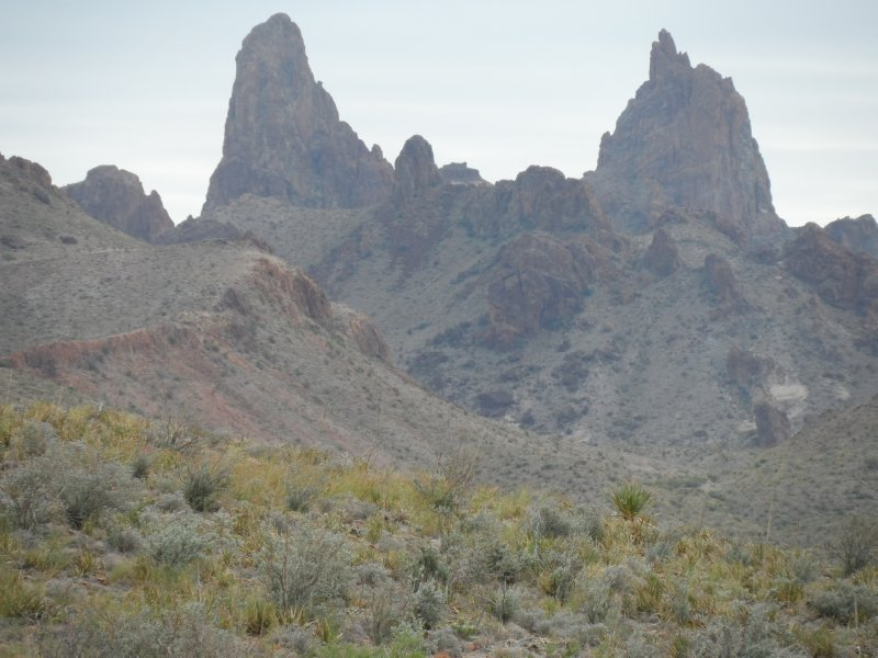 Matching peaks known as Mule Ears