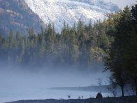 Lake McDonald is the glacial lake at this entrance.