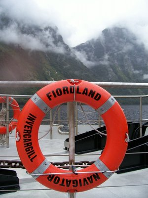Lifering on the Fjordland Navigator