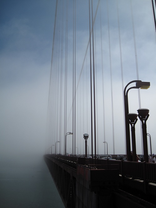 Golden Gate Bridge in the Sea Mist
