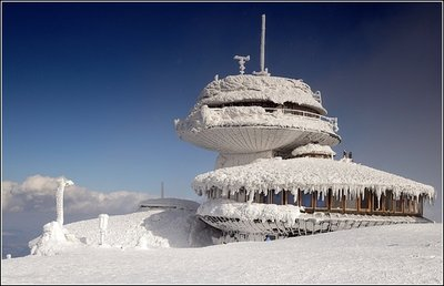 Mt. Snezka in the snow