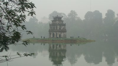 Turtle Tower in Hoan Kiem Lake