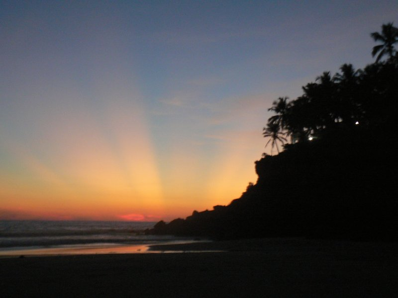 Sunset over Varkala Beach