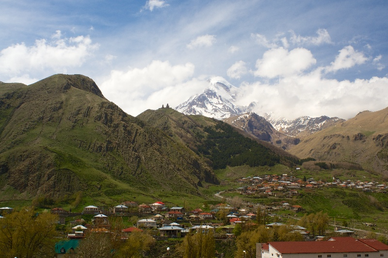 Mount Kazbeg and Trinity Church