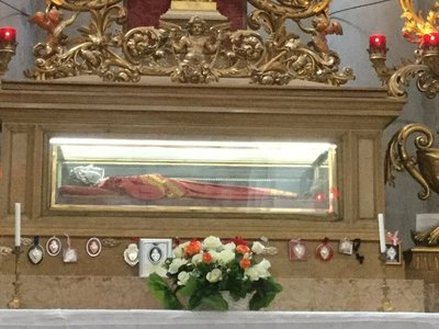 Venice - mummified remains of St Lucia