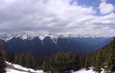 Panoramic View - Top of Sulphur Mountain, Banff