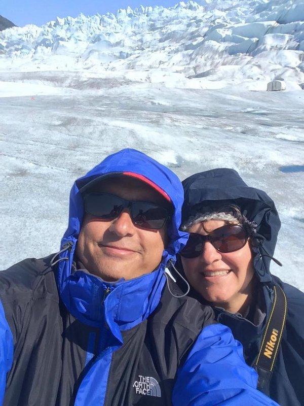 Us on Medenhall Glacier, Juneau Alaska