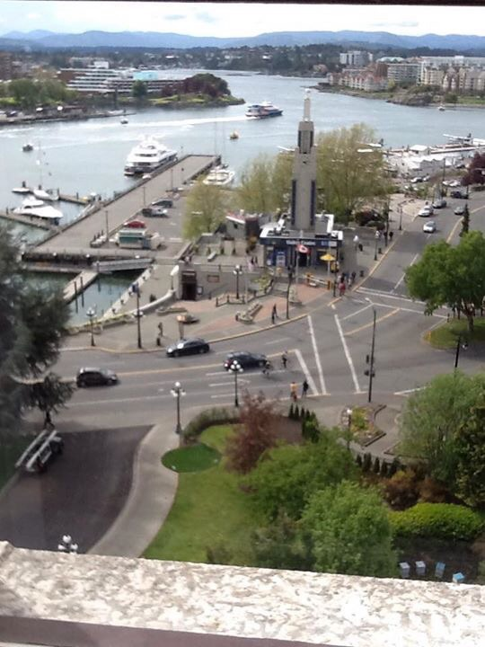 View from Empress Hotel Room