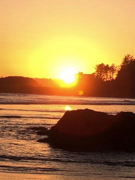 Beach Sunset in Tofino BC Canada