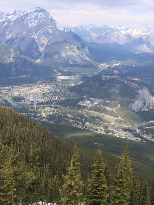 View of Banff From Sulphur Mountain Peak
