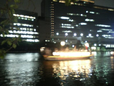 Drumming boat at Tenjin Festival
