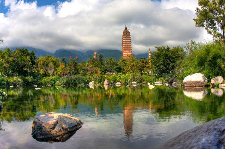 The Three Pagodas Pond