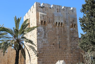 Inside the Wall of Old Jerusalem near the Jaffa Gate