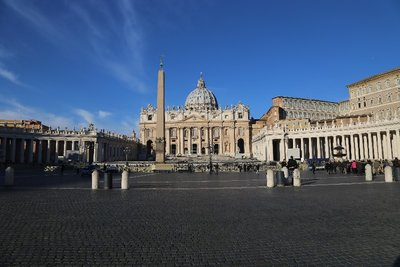 St Peter's Square and Basilica, Vatican City