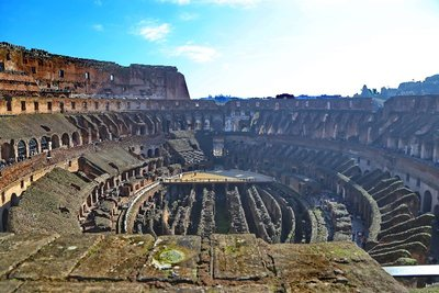Roman Coliseum: View from the Upper Tiers