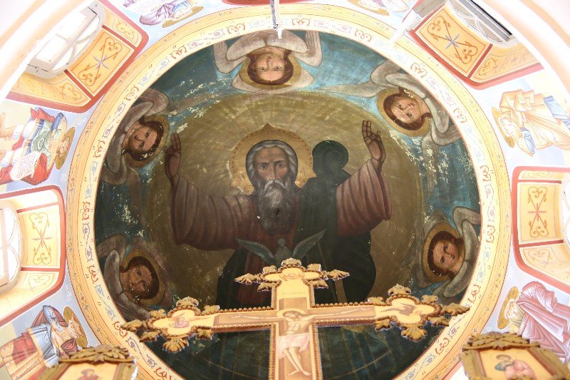 Cross and Ceiling Art