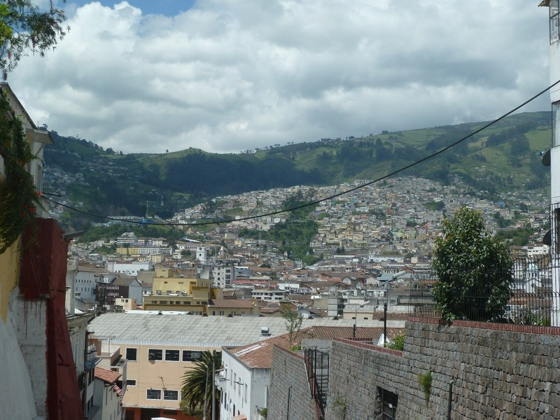 View of the old town of Quito