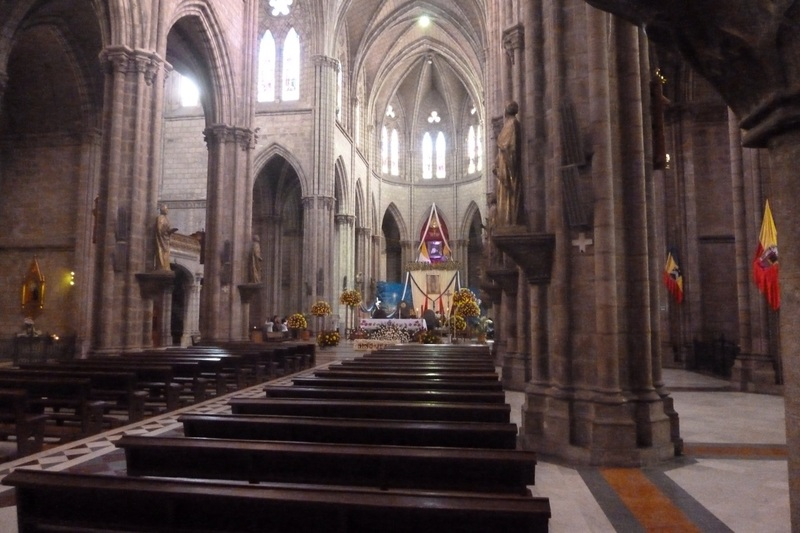 View of cathedral - Quito