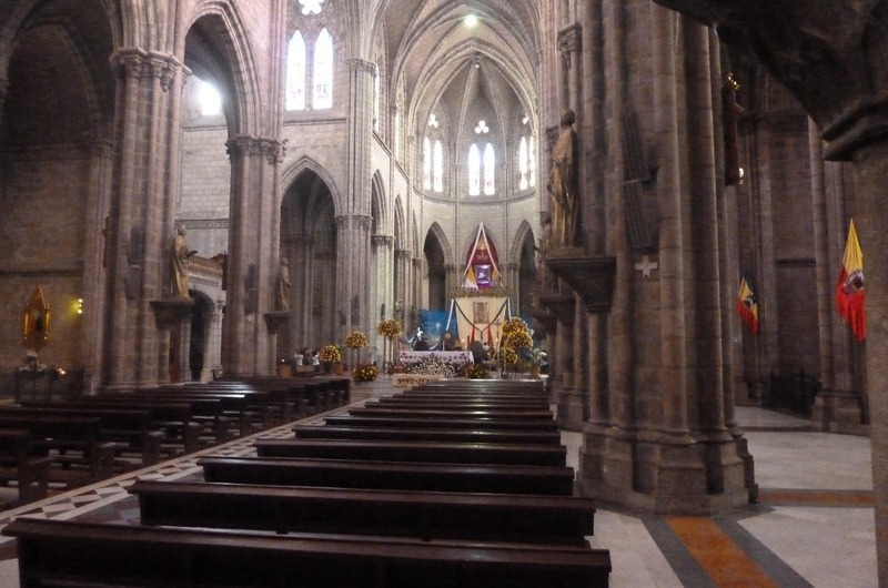 Inside the Church of the  National Basilica