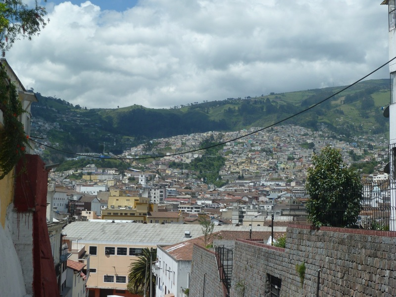 View of Quito from outside our hostel