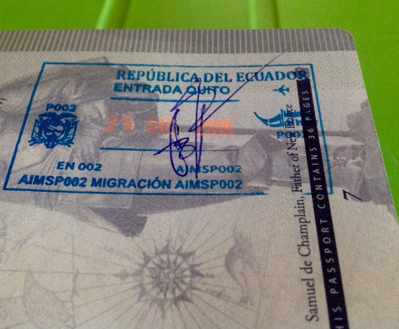 First stamp in my new 10 year passport