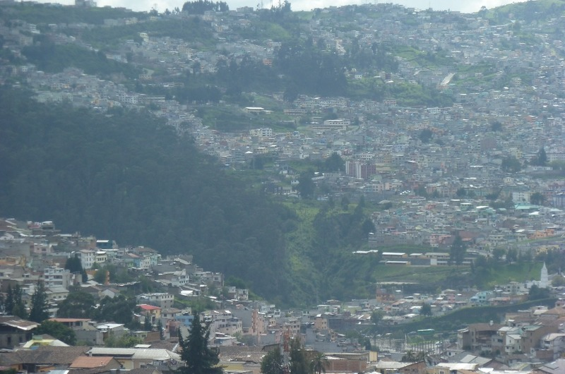Landscape view, Old town of Quito