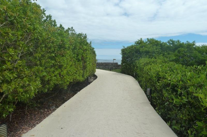 Walkway from Ambermeyer Hotel