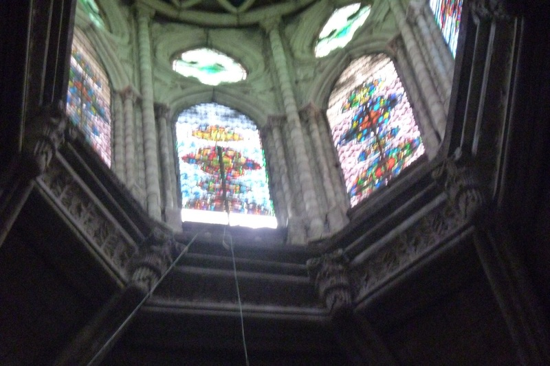 Some of the stained glass work