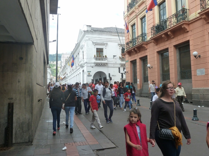 Streets of Quito's Old Town