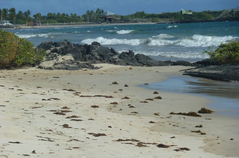 Some of the many inlets that dotted the beach