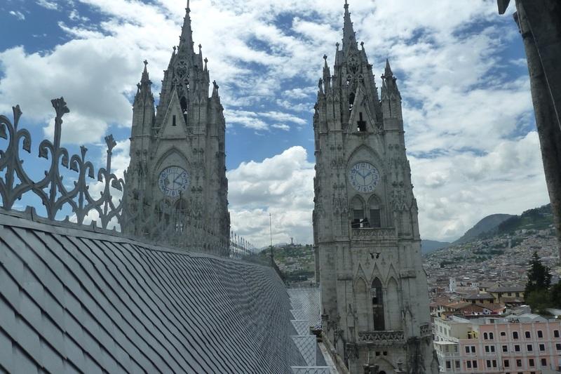 Clock tower of the Basilica, Quito