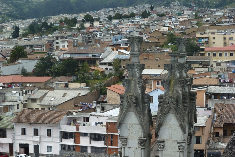 A view of Quito from the top of the Basilica Quito