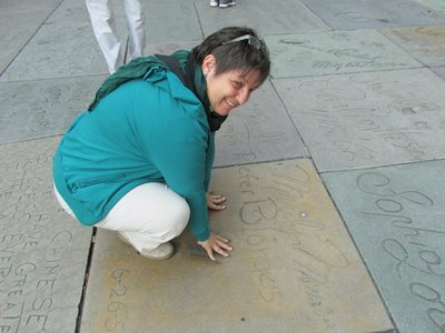 Abdrücke von Marilyn Monroe am Walk of Fame