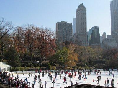 Eislaufen im Central Park, NYC