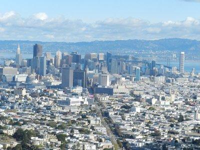 Blick auf San Fransisco von den Twin Peeks aus
