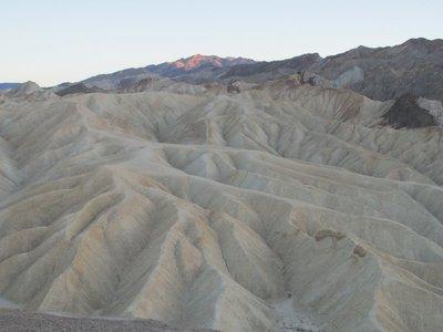 Zabriskie Point, Death Valley, bei Sonnenuntergang
