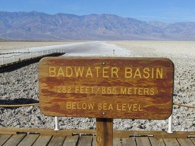 Bad Waters, tiefste Stelle der USA