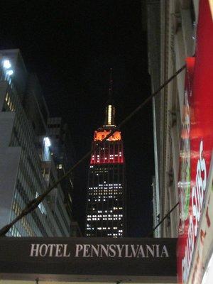 Hotel New York mit dem ersten Blick auf das Empire State Building