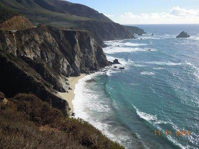 Küste entlang Highway 1