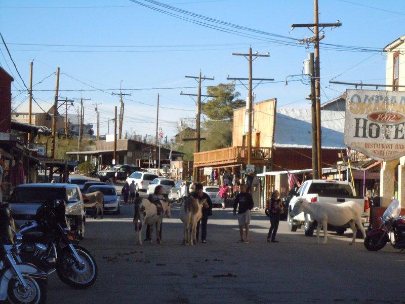 Oatman, Arizona an der Route 66