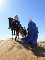 Over the Merzuga Dunes