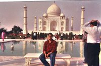 The Majestic Taj Mahal with majestic Rajat ; )