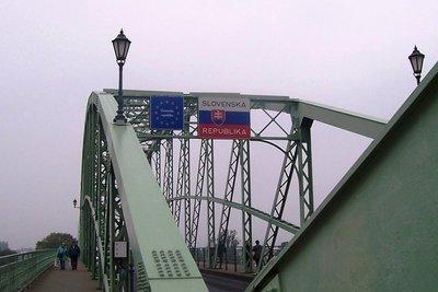 Bridge over Danube joins Slovakia with Hungary