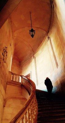 Winding Staircase Carlos V Palace Alahambra Spain