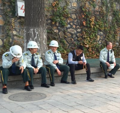 Always felt safe, strong police presence, lots of security, relaxing at the Summer Palace, Beijing
