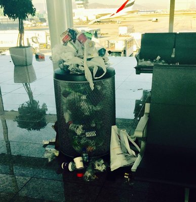 Garbage Strike at Barcelona Airport!!