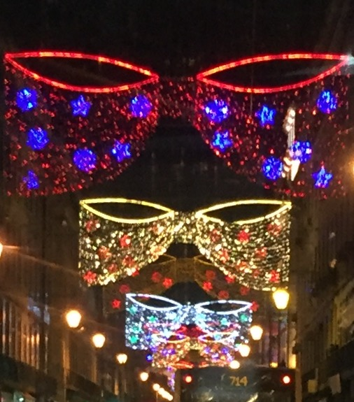 Christmas lights in Lisbon