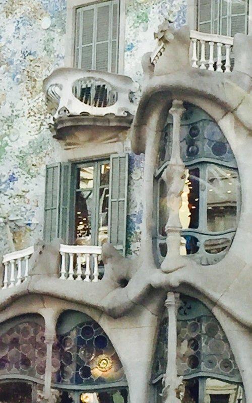 Barcelona Gaudi's Casa Batlo Detail