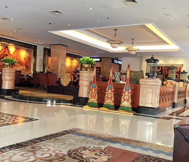 Lobby of Tibet Hotel Chengdu China