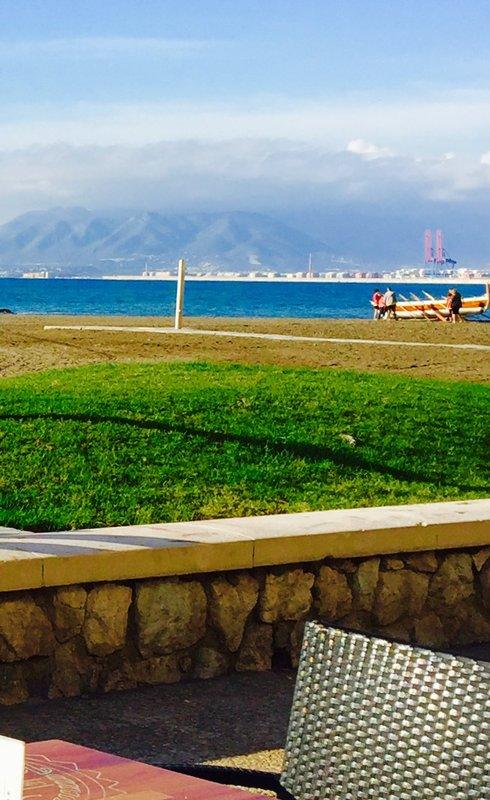 Beach across from Hotel Malaga